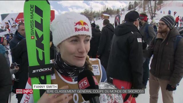 Fanny Smith remporte le classement général de la Coupe du monde de ski-cross à Veysonnaz [RTS]