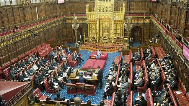 Chambre des Lords, Palais de Westminster, Londres. [UK government]