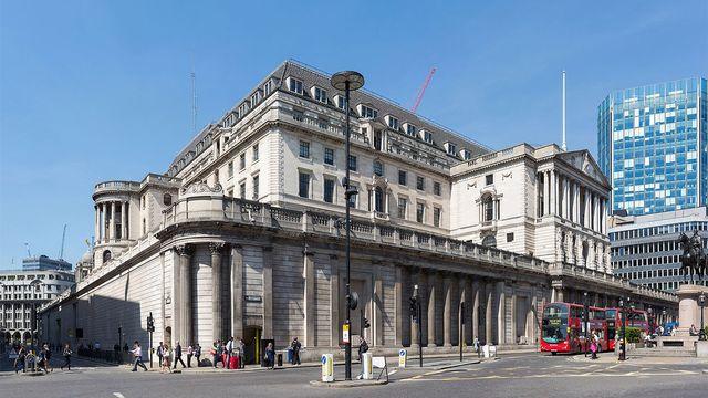 Bâtiment de la Banque d'Angleterre, Lombard Street, Londres. [David Iliff - Wikimedia]
