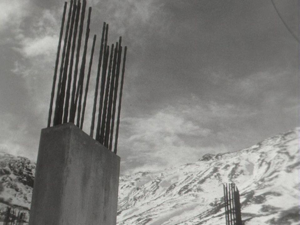 Les grands chantiers valaisans en 1961. [RTS]