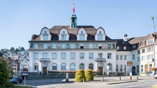 Le bâtiment du gouvernement d'Appenzell Rhodes-Extérieures, à Herisau.  [Christian Beutler - Keystone]