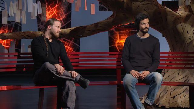 """Pablo Servigne (à droite), collapsologue et auteur de """"Comment tout peut s'effondrer"""".  [RTS]"""