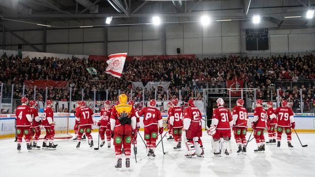 Le public devrait être au rendez-vous pour voir des joueurs de NHL sur la glace du LHC. [Adrien Perritaz - Keystone]
