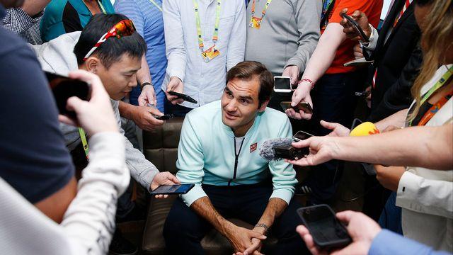Roger Federer a remporté le tournoi de Miami en 2005, 2006 et 2017. [Michael Reaves - AFP]