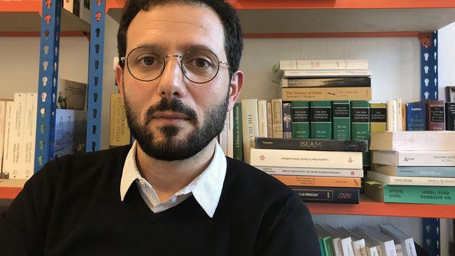 Wissam Halawi, Professeur d'histoire de l'islam à l'Université de Lausanne. [Fabien Hünenberger - RTS]