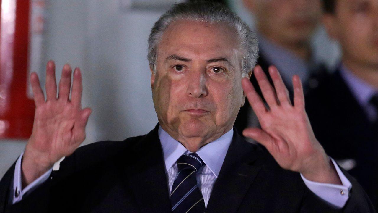 L'ancien président brésilien Michel Temer en octobre 2017 à Brasilia. [Eraldo Peres - Keystone]