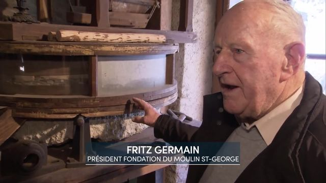 Entretien avec Fritz Germain, président association du moulin St-George [RTS]