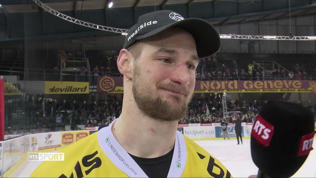 Acte VI, Genève-Servette - Berne (2-3 ap): la joie de Tristan Scherwey après la qualification bernoise [RTS]