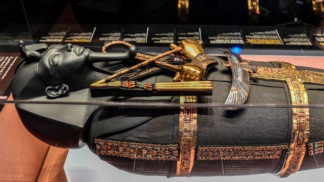 Le sarcophage de Toutankhamon sera exposé à La Villette à Paris. [Stephane de Sakutin - AFP]