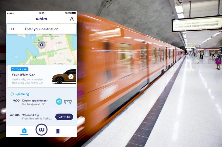 L'application Whim propose le meilleur transport selon votre destination.