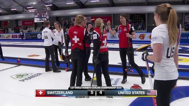 Championnat du monde dames, Suisse - USA (5-4): les Suissesses remportent une nouvelle victoire [RTS]