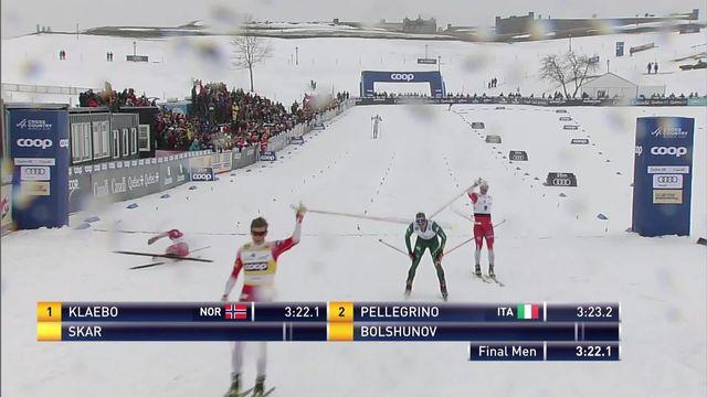 Québec (CAN), sprint messieurs: Johannes Klaebo (NOR) s'impose devant Pellegrino (ITA) et Skar (NOR) [RTS]