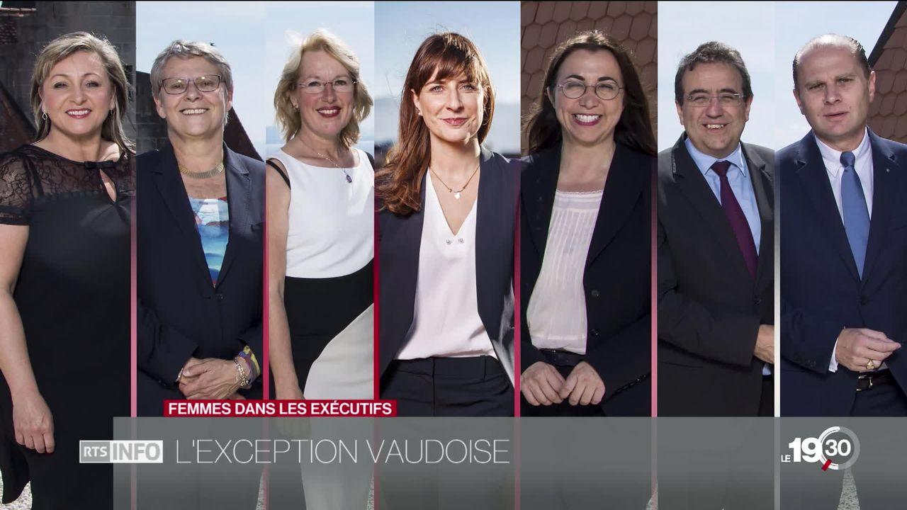 Femmes dans les exécutifs: retour sur l'exception vaudoise. [RTS]