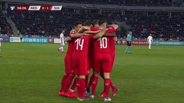 Gr.B, Géorgie - Suisse (0-1): 57e, Zuber ouvre le score [RTS]