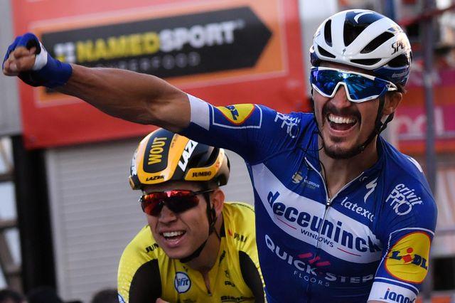 Le Français, déjà vainqueur des Strade Bianche, vit un très beau début de saison. [Marco Bertorello - AFP]