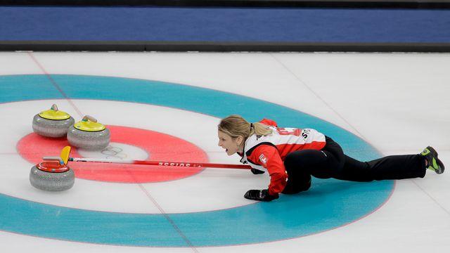 Le CC Aarau s'assure une médaille après sa victoire en demi-finale. [Natacha Pisarenko - Keystone]
