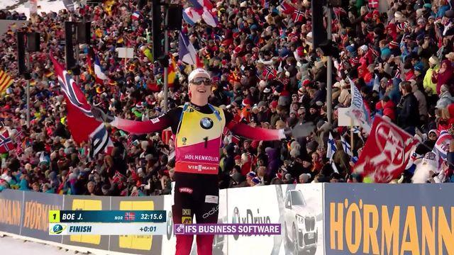 Holmenkollen (NOR), poursuite messieurs:  la victoire pour Boe J. (NOR) [RTS]