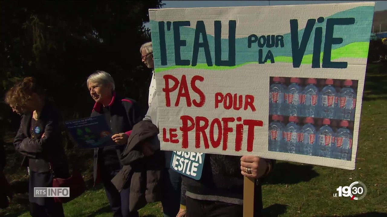 Nestlé accusé d'assécher les Vosges [RTS]
