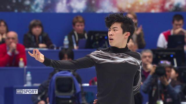 Mondiaux de patinage artistique: double victoire de Nathan Chen (USA) [RTS]