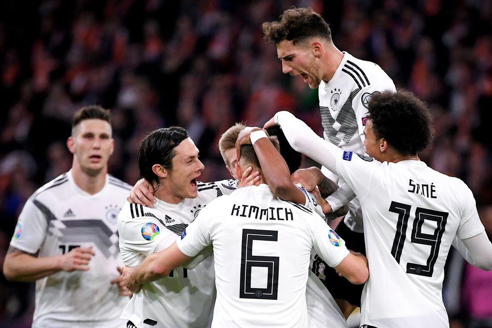 La joie des Allemands après le 2-0. [Sascha Steinbach - Keystone]