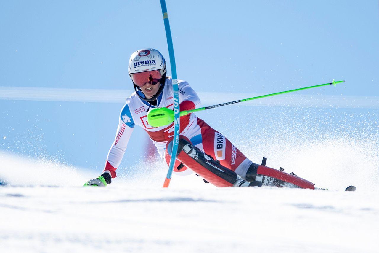 Camille Rast s'est blessée lors de la dernière course de sa saison. [Urs Flueeler - Keystone]
