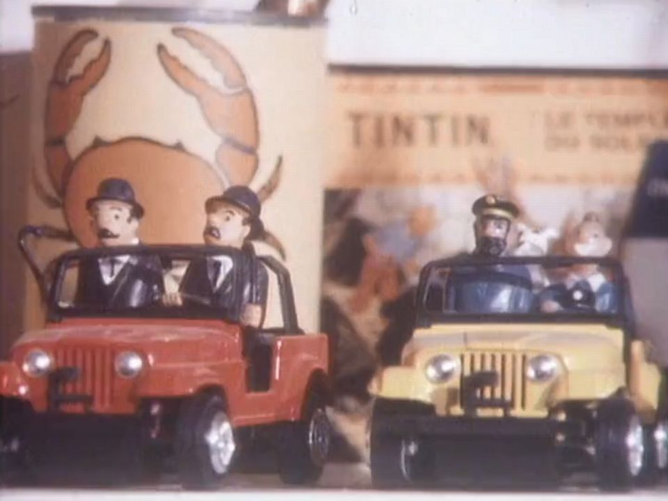 Un collectionneur fou de Tintin en 1989. [RTS]