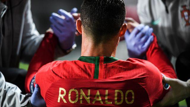 Ronaldo a dû sortir sur blessure à la 31e minute. [Patricia De Melo Moreira - AFP]