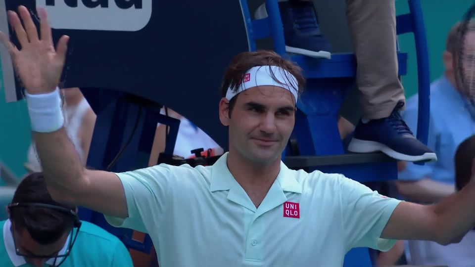 ATP Miami, 1-16e, Krajinovic (SRB) - Federer (SUI) (5-7, 3-6) [RTS]