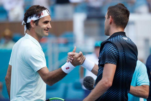 Roger Federer s'est pleinement rassuré en se montrant notamment solide en revers. [USA Today Sports - Reuters]