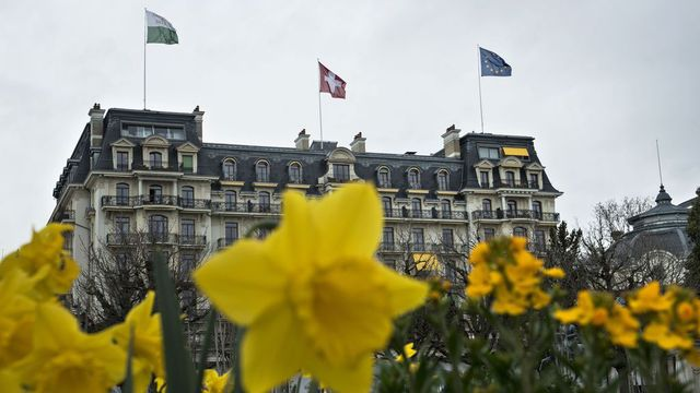 Le Beau-Rivage Palace de Lausanne a accueilli notamment d'importantes conférences internationales. [Brendan Smialowski - AP/Keystone]