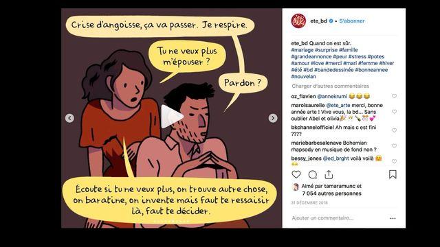 """Post Instagram de la BD """"Eté"""".  [DR]"""
