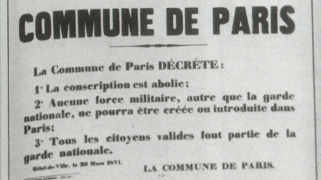 Publication de la Commune de Paris, 1871. [RTS]