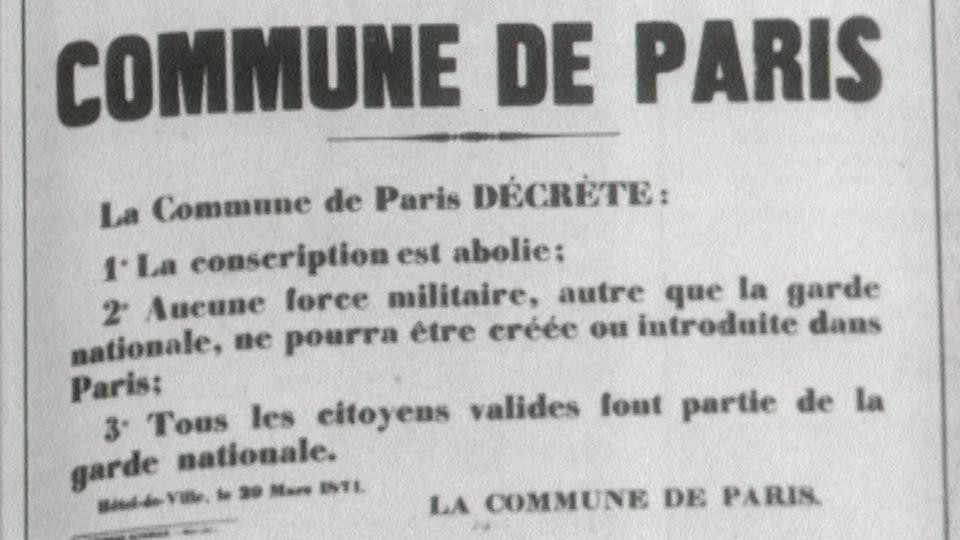 Publication de la Commune de Paris, 1871. [RTS]