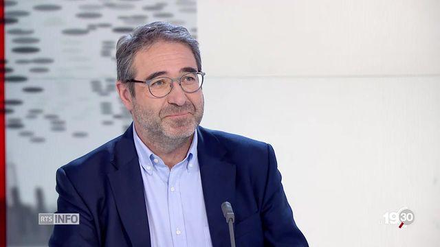 """Frédéric Borloz, PLR: """"Le principe de précaution est réel, on doit y être attentif. Des gens sont véritablement intolérants."""" [RTS]"""
