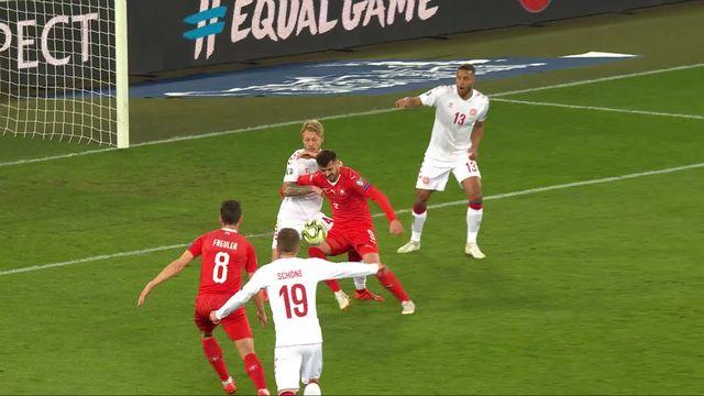 Gr.B, Suisse - Danemark (1-0): 20e, Freuler marque son premier but avec l'équipe de Suisse [RTS]