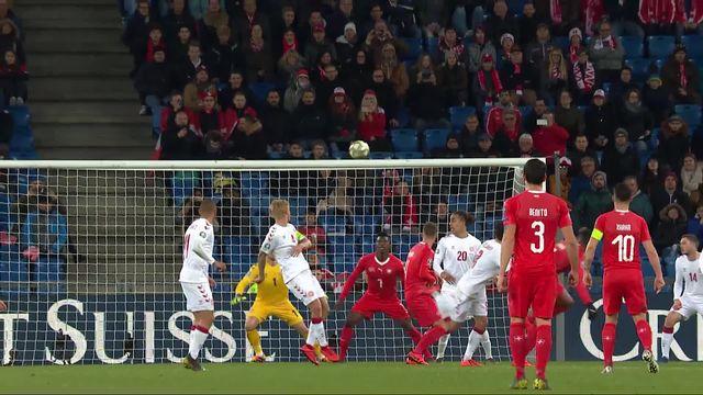 Gr.B, Suisse - Danemark (3-0): 76e, Embolo marque le troisième but [RTS]