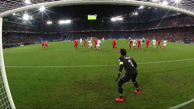 Gr.B, Suisse - Danemark (3-1): 84e, Jorgensen réduit la marque [RTS]