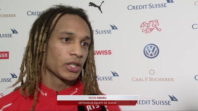 Gr.B, Suisse - Danemark (3-3): Mbabu s'exprime au micro de RTSsport [RTS]