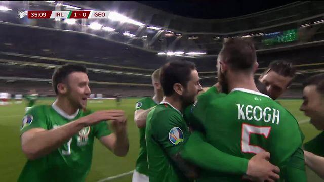 Gr.B, Irlande - Géorgie (1-0): L'Irlande prend la première place du groupe B [RTS]