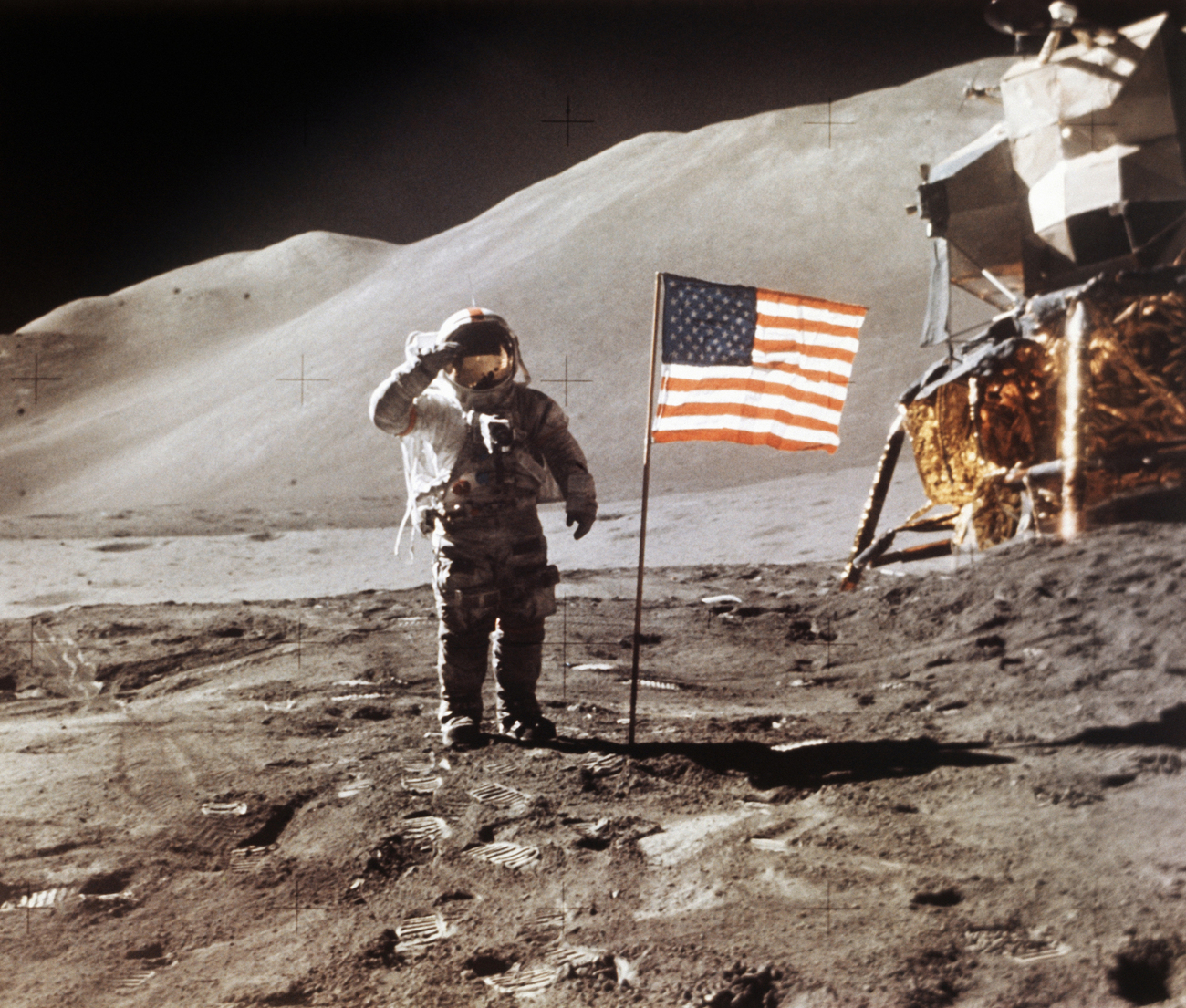 Le 30 juillet 1971, le pilote du module de la mission Apollo 15, James Irwin est photographié sur la Lune. (Image d'illustration).