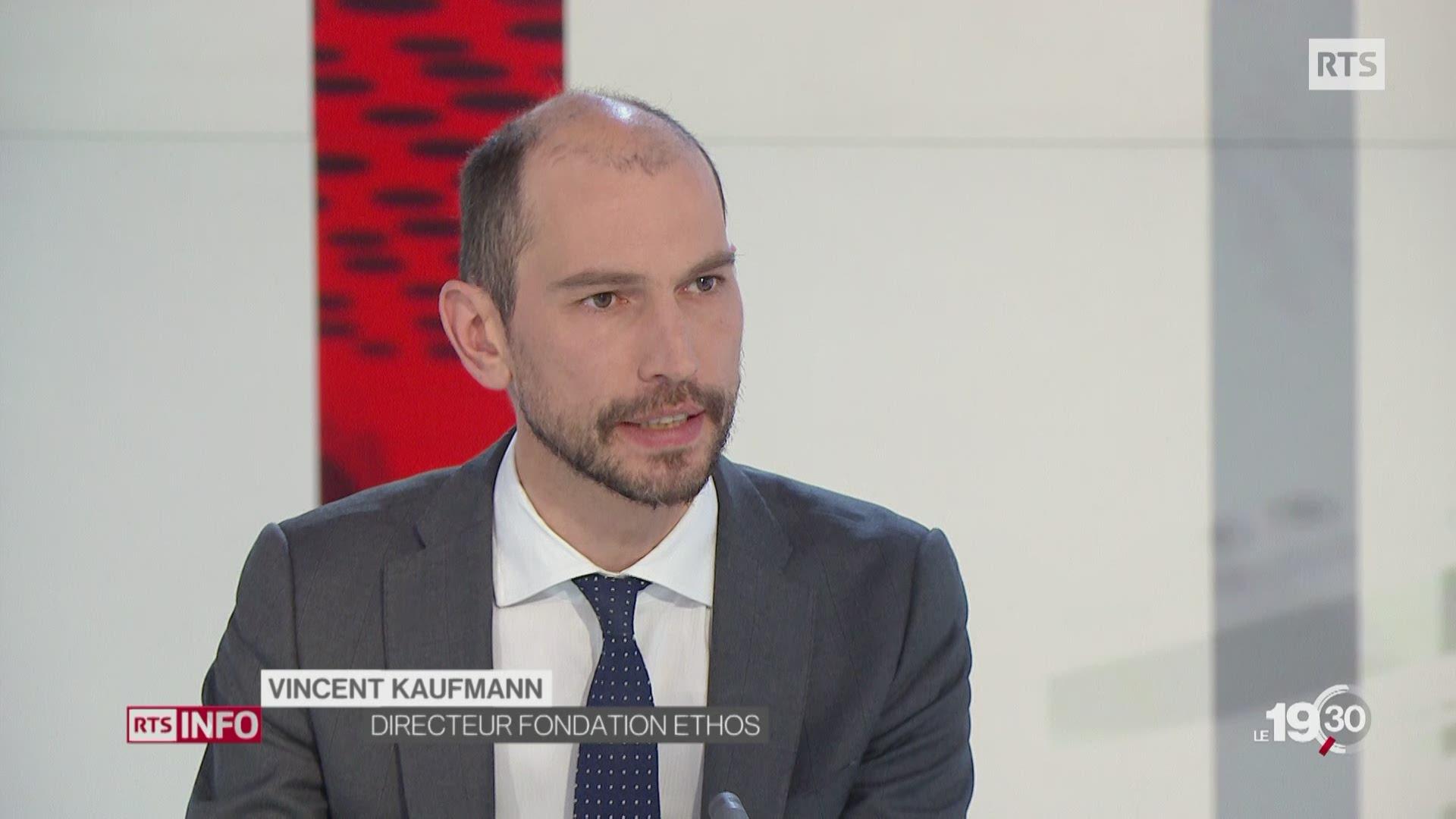 Le directeur d'Ethos, Vincent Kaufmann, réagit aux révélations sur Novartis.