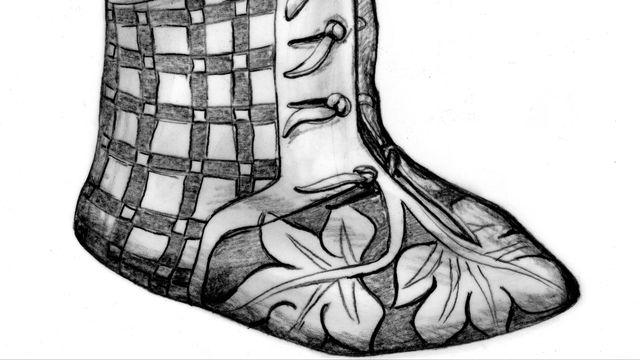 Reconstitution de la bottine en cuir retrouvée à St-Ursanne [Marquita Volken - Office de la culture et Gentle Craft]