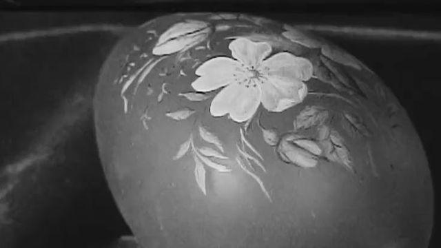 Un oeuf décoré en 1969. [RTS]