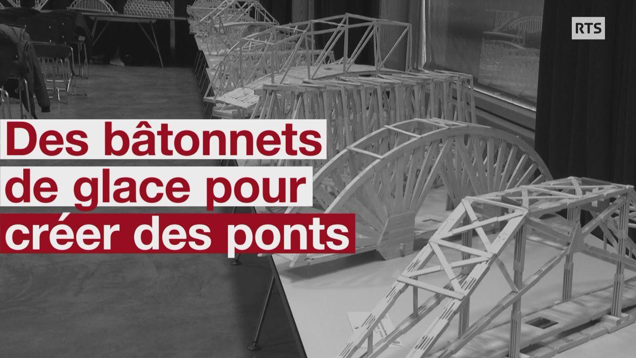Des bâtonnets de glace pour créer des ponts [RTS]