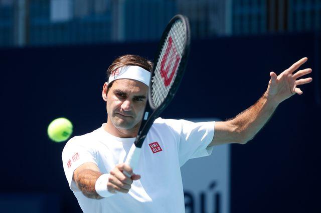 Federer se plaît bien en Floride. [Joel Auerbach - Keystone]