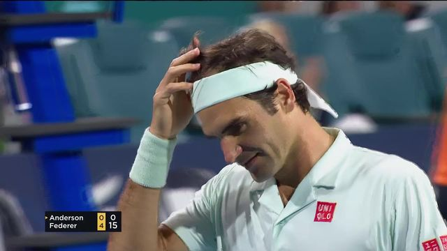 Le point incroyable remporté par Roger Federer lors de sa victoire face à Anderson (RSA) [RTS]