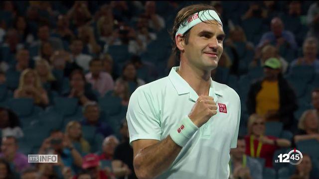 Masters 1000 de Miami, Roger Federer a dompté le Canadien Denis Shapovalov en demi-finale. [RTS]