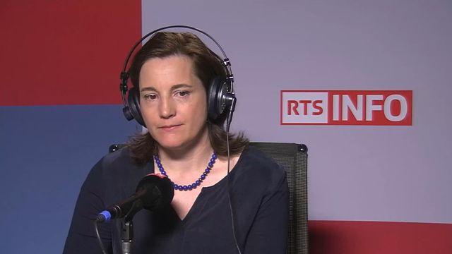 Jasmine Voide, responsable de Swiss Recycling pour la Romandie. [RTS]