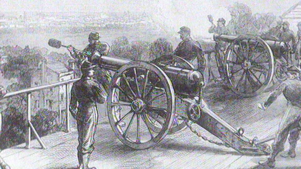 Les Versaillais tirent contre Paris qui a instauré la Commune, 1871. [RTS]