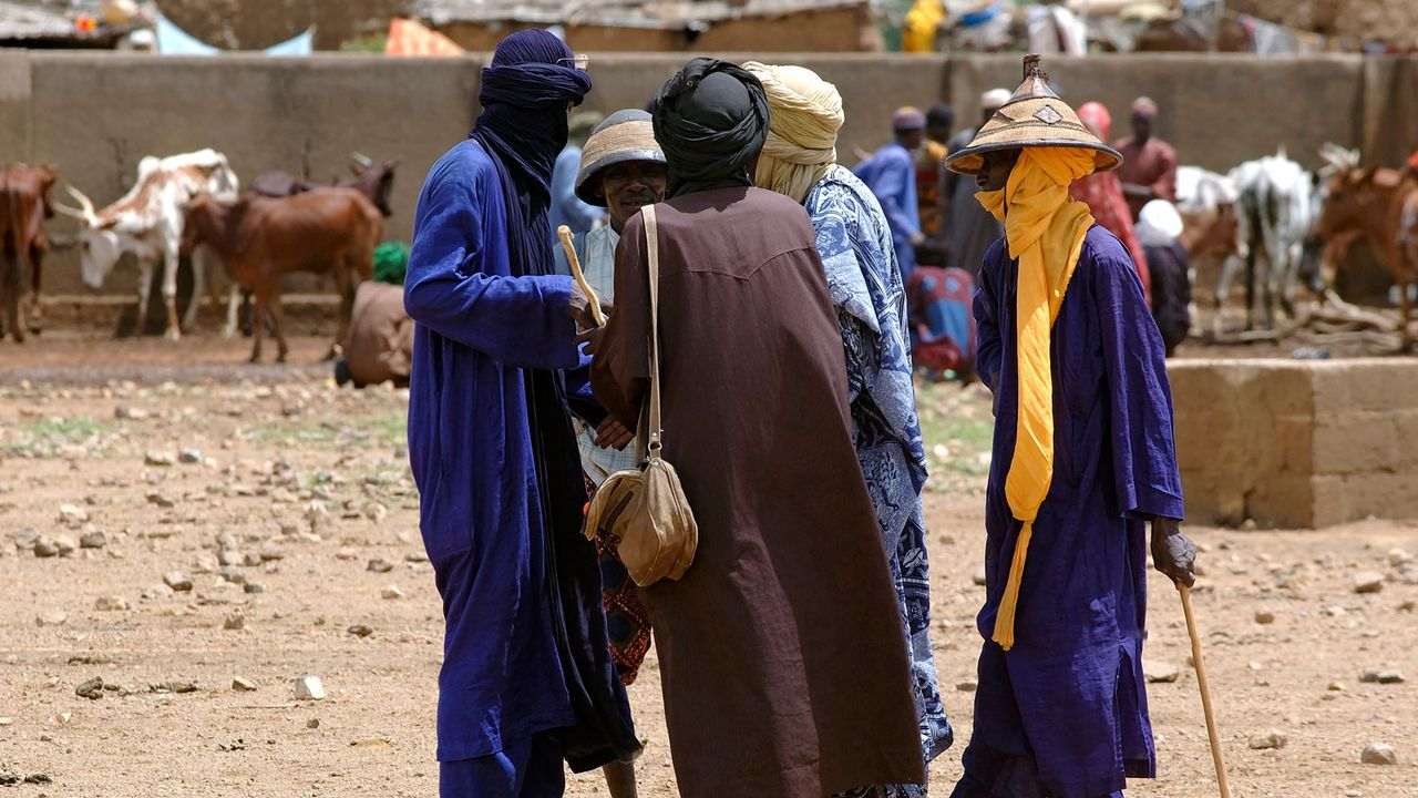 Communauté peule à Gorom Gorom,au Burkina Faso. [Philippe Roy - Aurimages/AFP]